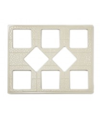 GET Enterprises ML-175-IV Ivory Full Size Tile with Eight Square Cut-Outs
