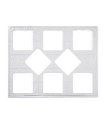 GET Enterprises ML-175-W White Full Size Tile with Eight Square Cut-Outs