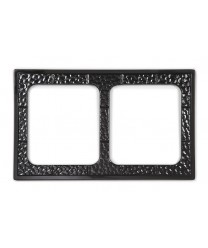 GET Enterprises ML-169-BK Black Full Size Tile with Two Cut-Outs for ML-177