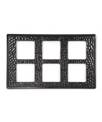 GET Enterprises ML-164-BK Black Full Size Tile with Six Cut-Outs for ML-148