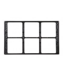 GET Enterprises ML-168-BK Black Full Size Tile with Six Cut-Outs for ML-149 and ML-150