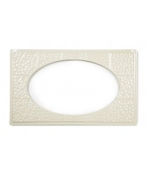 GET Enterprises ML-192-IV Ivory Full Size Tile with One Cut-Out for ML-183 or ML-184