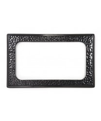 GET Enterprises ML-163-BK Black Full Size Tile with One Cut Out for ML-176