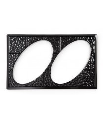GET Enterprises ML-191-BK Black Full Size Tile with Two Cut-Outs for ML-182