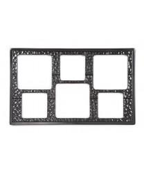 GET Enterprises ML-162-BK Black Full Size Tile with Six Square Cut-Outs