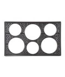 GET Enterprises ML-161-BK Black Full Size Tile with Six Round Cut-Outs