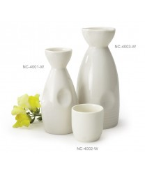 GET Enterprises NC-4001-W White Porcelain Sake Bottle, 6 oz. (1 Dozen)
