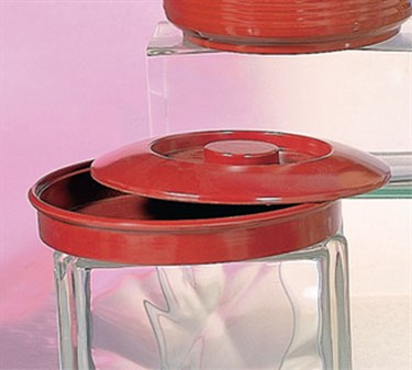 """Thunder Group NS608R Nustone Red Tortilla Server with Lid 8-1/4"""" (1 Dozen)"""