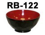 GET Enterprises RB-122-RB Fuji Black / Red Bowl, 11 oz. (1 Dozen)