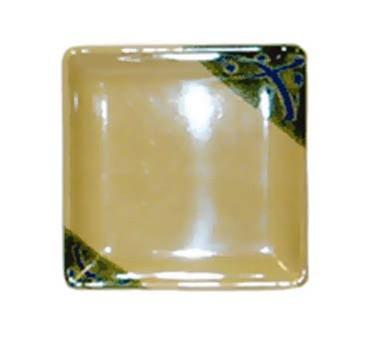 "GET Enterprises 252-18-TD Japanese Traditional Square Petite Plate 7""x 7""(1 Dozen)"