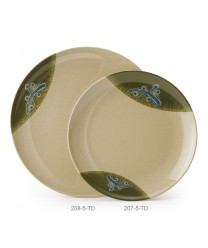 "GET Enterprises 207-5-TD Japanese Traditional Round Plate, 10-1/2""(1 Dozen)"