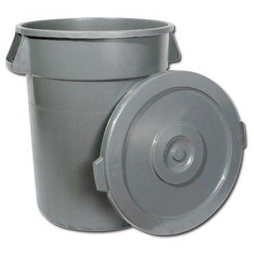 Winco PTC-44G Heavy Duty Grey Trash Can, 44 Gallon