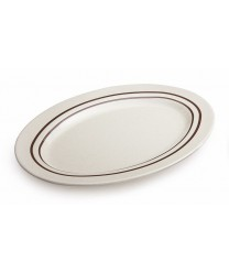 "GET Enterprises M-4020-U Ultraware Melamine Oval Platter, 14""x 10""(1 Dozen)"
