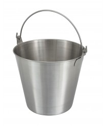 Winco UP-13 Stainless Steel Utility Pail, 13 Qt.