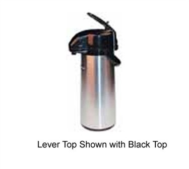 Winco AP-525DC Push Button Decaf Vacuum Server with Glass Liner 2.5 Liter