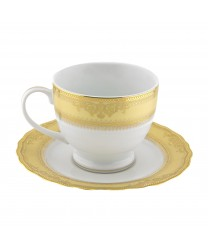 10 Strawberry Street VAN-9G Vanessa Gold Cup and Saucer Set 8 oz. - Case of 24