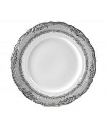 10 Strawberry Street VAN-1P Vanessa Platinum Dinner Plate 10-1/2'' - Case of 24