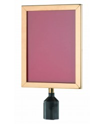 """Aarco VSF1411B Form-A-Line Sign Frame in Brass 14-1/8"""" x 11-1/8"""""""
