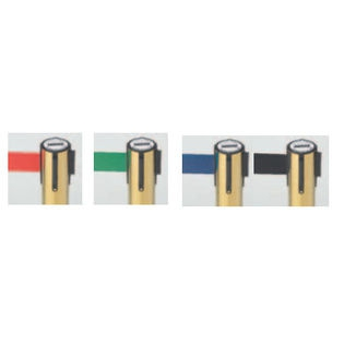 Aarco WM-7B Form-A-Line System Wall Mounted  Retractable Belt with Brass Casing 7""
