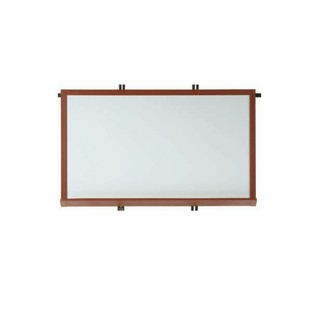 "Aarco 420WWD1824  Architectural High Performance High Gloss White Porcelain Markerboard with Walnut Wood-Look Aluminum Trim  18"" x 24"""