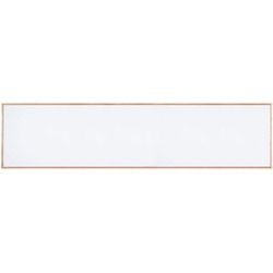 """Aarco 420WWD48192V2 Architectural High Performance Low Gloss White Porcelain Markerboard with Walnut Wood-Look Aluminum Trim  48"""" x 192"""""""