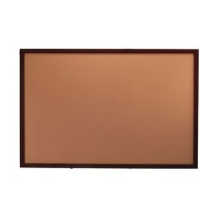 "Aarco DBWW1824 Architectural High Performance Natural Pebble Grain Cork Bulletin Board with Walnut Wood Grain Look Aluminum Trim 18"" x 24"""