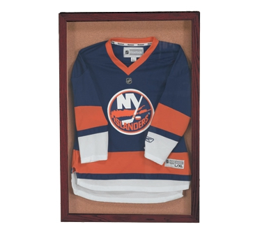 "Aarco WBC2418S Souvenir and Memorabilia Display Case with Wanut Stain Finish 24"" x 18"""