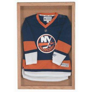 "Aarco WBC3624S Souvenir and Memorabilia Display Case with Wanut Stain Finish  36"" x 24"""