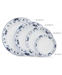 "GET Enterprises M-412-B Water Lily Melamine Plate, 6""(1 Dozen)"
