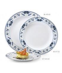 """GET Enterprises KT-415-B Water Lily Melamine Round Plate, 12""""(1 Dozen)"""