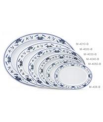 "GET Enterprises M-4010-B Water Lily Melamine Oval Platter, 16""x 12""(1 Dozen)"