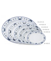 "GET Enterprises M-408-B Water Lily Melamine Oval Platter, 8""(1 Dozen)"