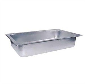 Winco C-WPF Full Size Stainless Steel Water Pan, 4'' Deep