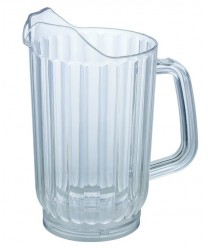 Winco WPC-32 Clear Polycarbonate Water Pitcher 32 oz.