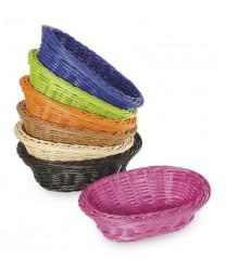 """GET Enterprises WB-1503-BK Designer Polyweave Black Oval Basket, 9""""x 6-3/4""""(1 Dozen)"""
