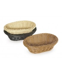 "GET Enterprises WB-1504-N Designer Polyweave Navy Oval Basket, 9-1/4""x 6-3/4""(1 Dozen)"
