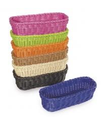 """GET Enterprises WB-1507-BK Designer Polyweave Black Rectangular Basket, 10""""x 4-3/4""""(1 Dozen)"""