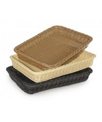 """GET Enterprises WB-1509-BK Designer Polyweave Black Rectangular Basket, 18""""x 12-3/4""""(1 Dozen)"""
