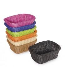 """GET Enterprises WB-1506-BK Designer Polyweave Black Rectangular Basket, 9-1/2""""x 7-3/4""""(1 Dozen)"""