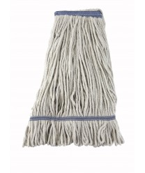 Winco MOP-24W White Yarn Looed End Wet Mop Head, 24 oz.