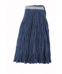 Winco MOP-24C Blue Yarn Cut End Wet Mop Head, 24 oz.
