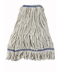 Winco MOP-32W White Yarn Looped End Wet Mop Head, 32 oz.