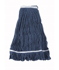 Winco MOP-32 Blue Yarn Looped End Wet Mop Head, 32 oz.