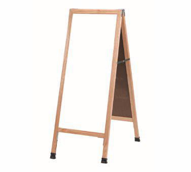 "Aarco A-35 A-Frame Sidewalk Board with White Melamine Markerboard and Oak Frame 42""x18"""