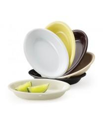 GET Enterprises DN-365-W White SuperMel Oval Side Dish, 5 oz. (4 Dozen)