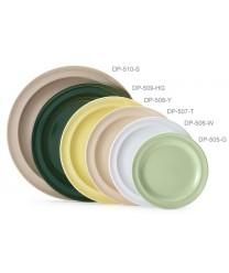 "GET Enterprises DP-505-W White SuperMel Round Plate, 5-1/2""(4 Dozen)"