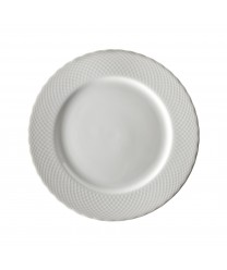 10 Strawberry Street WW0001 White Wicker Dinner Plate 10-3/8'' - Case of 24