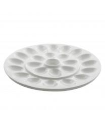10 Strawberry Street WTR-EGGPLTR Whittier Egg Platter 13'' - Case of 4