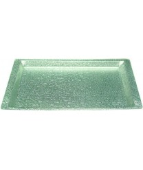 Winco AST-1S Silver Acrylic Textured Display Tray 20-3/4'' X 12-3/4''