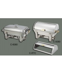 Winco C-RTC Roll-Top Cover for Dallas 8 Qt. Chafer